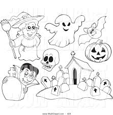 free halloween outline clip art 18