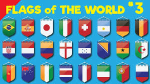 Country Flags Of The World Learn Country Flags For Kids 3 Countries Of The World Flags Of