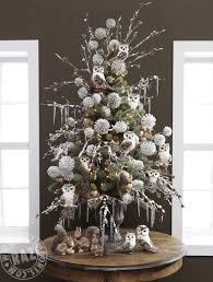 raz forest friends owl decorated tabletop tree