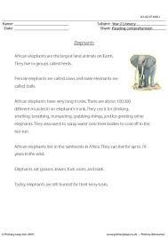 primaryleap co uk reading comprehension elephants non fiction