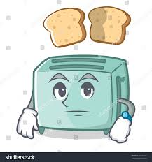 Toaster Face Waiting Toaster Character Cartoon Style Stock Vector 728697631