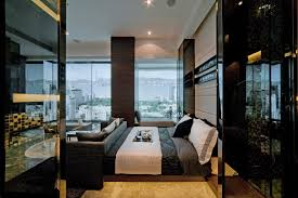 steve home interior interior black and white bedroom with glass window some dramatic