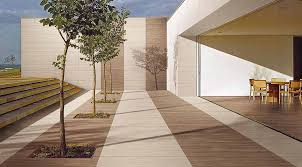 patio of a contempoary home featuring wood effect ultra thin large