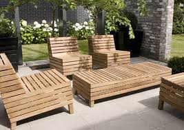 Outdoor Wooden Patio Furniture Furniture Pleasing Wood Patio Furniture With Bench Splendid