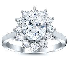 engagement ring setting floral halo engagement ring setting