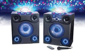 big home theater speakers mega party express big wireless sound with bright party lights