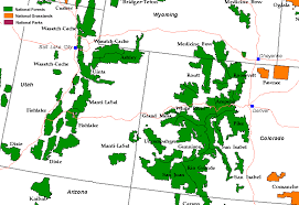 map of southern utah national forest grasslands map colorado utah and southern wyoming