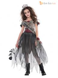 girls zombie prom queen costume teen age 12 16 halloween fancy