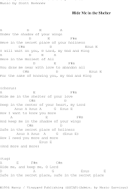 the shelter hide me in the shelter christian gospel song lyrics and chords
