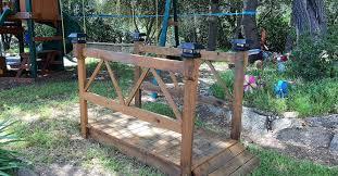 Backyard Bridge Diy Wood Garden Bridge Hometalk