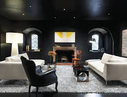 room with black walls 5 ways to do dark walls right dwell modern living room with black