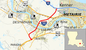 New Orleans Airport Map by Interstate 310 Wikipedia