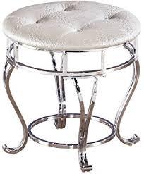 Silver Vanity Chair Amazon Com Signature Design By Ashley Zarollina Vanity Silver
