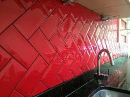 red kitchen tile backsplash black tile black grout google search kitchen pinterest