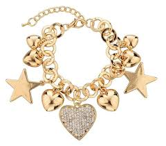 women bracelet heart images Fashion heart beetle charm bracelets bangles for women real gold jpg