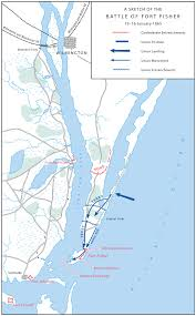 Fort Bragg Map The Wilmington Campaign 1864 U20131865 The Battle Of Fort Fisher 13