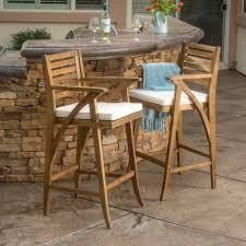 Acacia Wood Outdoor Furniture by Anguilla Teak Finish Acacia Wood Outdoor Barstools U2013 Gdf Studio