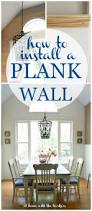 how to install a plank wall at home with the barkers