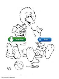 sesame street coloring pages printable big bird