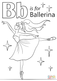 letter b is for ballerina coloring page free printable coloring