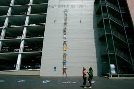 street art murals to explore in central san diego area arts don t believe the hype mural by os gemeos is painted on the south side of horton plaza downtown david brooks union tribune
