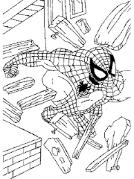 super coloring pages spiderman color print free
