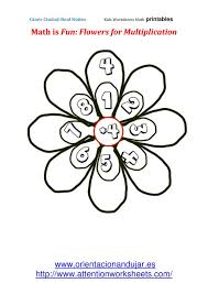 math is fun flowers for multiplication printables attention