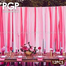 streamer backdrop pgp pink crepe paper streamers for wedding kids princess