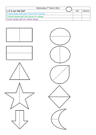 find half of given shapes by landoflearning teaching resources tes