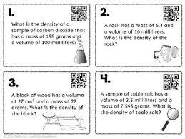 density of table salt calculating density task cards with dividing decimals qr codes tpt