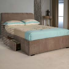 Bed Frames With Storage Drawers And Headboard Bedroom White Painted Wooden High Bed Frame With Storage Drawers