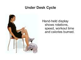 exercise while sitting at desk with under the desk bike