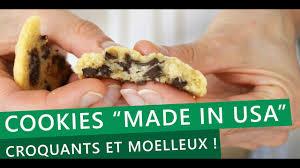 recette cuisine usa recette le secret des cookies moelleux au chocolat made in usa