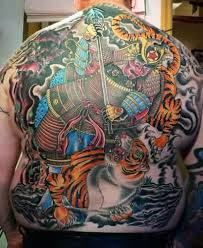 traditional japanese tiger for back in 2017 photo