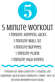 5 minute workout no equipment needed creating better tomorrow