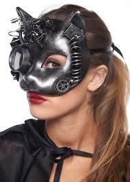 steunk masquerade mask steunk kitten masquerade mask