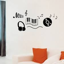 Music Note Decor Aliexpress Com Buy Black Blue Music Note Cd Piano Key Headphone