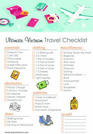 travel checklist images Ultimate vietnam travel checklist what to pack for vietnam trip jpg