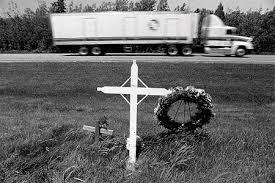 roadside memorial crosses pruned roadside memorial america