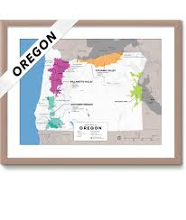 Washington Wineries Map detailed map of wine regions in oregon usa wine posters wine