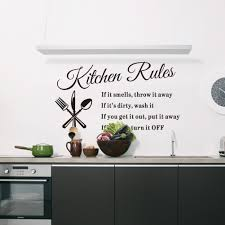 online get cheap wall rules aliexpress com alibaba group diy kitchen rules wall stickers removable quotes living room poster vinyl decoration decal window home decor wallpaper mural