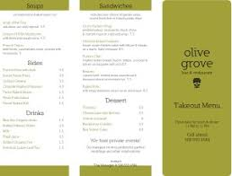 takeout menu template restaurant to go menu takeout menus