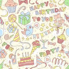 imagenes de cumpleaños sin letras ilustración vectorial feliz cumpleaños saludo sin patrón con las