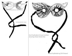 black and white mardi gras masks mardi gras neopoprealist mask with ink pen pattern drawing