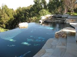 beautiful stone floor in the swimming pool 42 toparchitecture