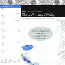 Weekly Desk Pad Ebony And Ivory Paisley 2017 Weekly Desk Pad Browntrout