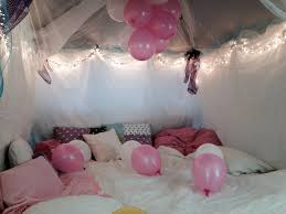 Movie Canopy by Daughters Princess Fort For Her Birthday Slumber Party Outdoor