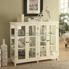 accent cabinet with glass doors mirrored glass door display accent cabinet 950306
