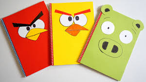Notebook Cover Decoration Angry Birds Diy Designer Notebook Covers Tutorial Back To