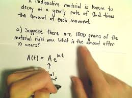 radioactive decay and exponential growth youtube